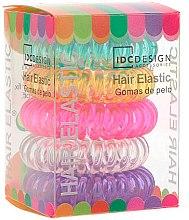 Voňavky, Parfémy, kozmetika Sada viacfarebných gumičiek na vlasy, silikónové, 5 ks - IDC Institute Design Hair Bands Pack