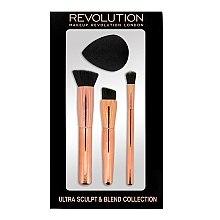 Voňavky, Parfémy, kozmetika Sada kefiek a špongií na sochárstvo - Makeup Revolution Ultra Sculpt & Blend Sponge Brush Collection
