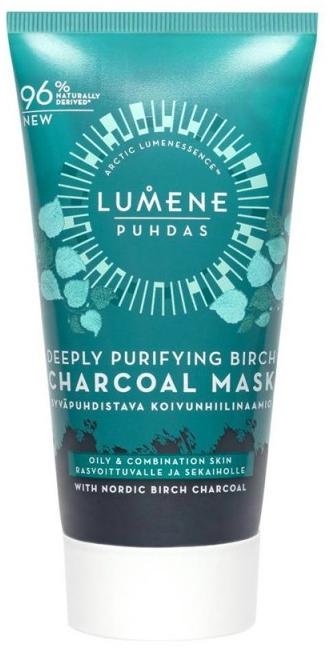 Maska s brezovým uhlím na hĺbkové čistenie - Lumene Puhdas Deeply Purifying Birch Charcoal Mask