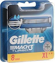 Voňavky, Parfémy, kozmetika Vymeniteľné kazety na holenie, 8 ks. - Gillette Mach3 Turbo