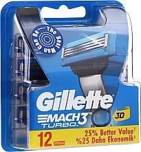 Voňavky, Parfémy, kozmetika Vymeniteľné kazety na holenie, 12 ks - Gillette Mach3 Turbo