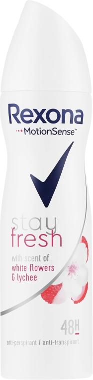 """Sprejový dezodorant """"Biele kvety a liči"""" - Rexona Stay Fresh White Flowers & Lychee Spray"""