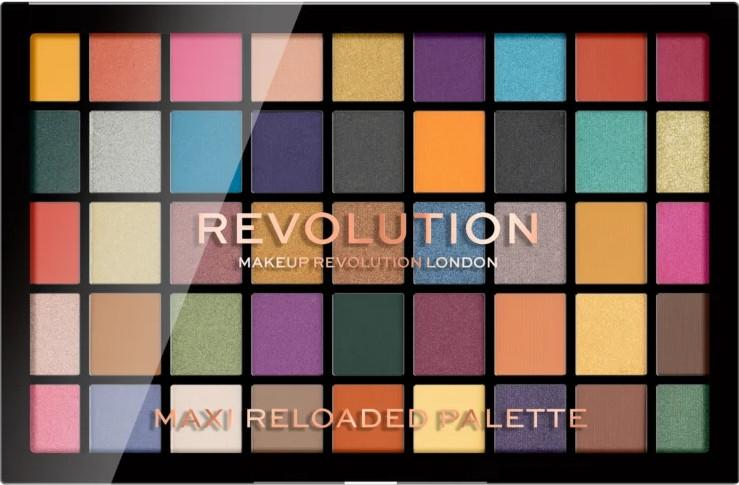 Paleta očných tieňov, 45 odtieňov - Makeup Revolution Maxi Reloaded Palette