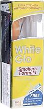 """Voňavky, Parfémy, kozmetika Sada """"Pre fajčiarov"""", svetlozelená kefka - White Glo Smokers Formula Whitening Toothpaste (t/paste 100 ml + t/brush + toothpicks)"""
