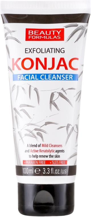 Čistiaci gél na tvár - Beauty Formulas Exfoliating Konjac Facial Cleanser