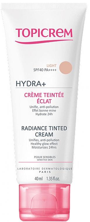 Make-up so žiarivým efektom - Topicrem Hydra+ Radiance Tinted Cream SPF 40