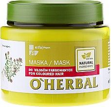 Voňavky, Parfémy, kozmetika Maska na farbené vlasy s extraktom tymiánu - O'Herbal