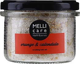 Voňavky, Parfémy, kozmetika Prírodná peelingová soľ do kúpeľa - Melli Care Orange & Calendula Scrubbing Bath Salt