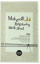 Voňavky, Parfémy, kozmetika Látková maska s extraktom ryžového vína - Holika Holika Makgeolli Brightening Mask Sheet