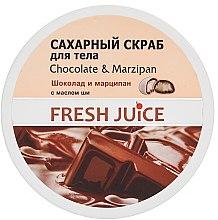 Voňavky, Parfémy, kozmetika Cukorový telový peeling - Fresh Juice Chocolate and Marzipan