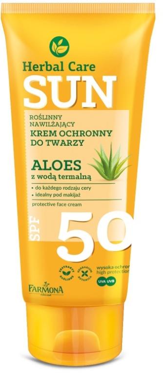 Ochranný krém na tvár - Farmona Herbal Care Sun SPF 50