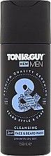 """Voňavky, Parfémy, kozmetika Šampón pre bradu a fúzy """"Hydratačný"""" - Toni & Guy Men Cleansing 2in1 Face & Beard Wash"""