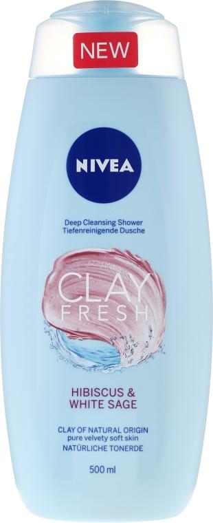 Sprchový gél s ílom - Nivea Clay Fresh Hibiscus & White Sage — Obrázky N1