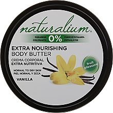 Voňavky, Parfémy, kozmetika Telový olej - Naturalium Vainilla Extra Nourishing Body Butter