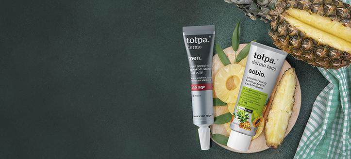 Zľava 10% na akciový sortiment výrobkov na starostlivosť o tvár od Tołpa. Ceny na stránke sú uvedené so zľavou