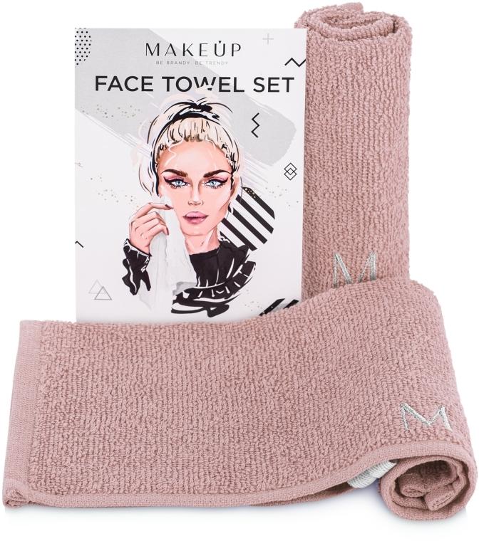 """Cestovná sada uterákov na tvár, béžové """"MakeTravel"""" - Makeup Face Towel Set"""