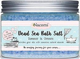 Voňavky, Parfémy, kozmetika Kúpeľová soľ s Mŕtvym morom s gréckou príchuťou - Nacomi Natural Greek Dead Sea Salt Bath