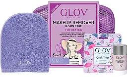 Voňavky, Parfémy, kozmetika Sada - Glov Expert Travel Set Oily and Mixed Skin (glove/mini/1pcs + glove/1pcs + stick/40g)