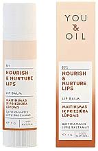 """Voňavky, Parfémy, kozmetika Balzam na pery """"Výživa a starostlivosť"""" - You & Oil Nourish & Nurture Lip Balm"""