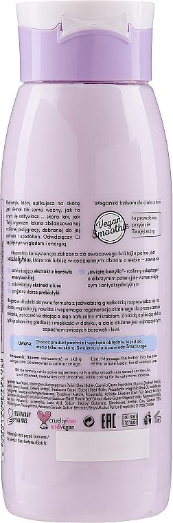 """Lotion na telo """"Čučoriedka + kivi"""" - Bielenda Vegan Smoothie Body Lotion — Obrázky N2"""