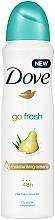 """Voňavky, Parfémy, kozmetika Deodorant-antiperspirant """"Hruška a aloe vera"""" - Dove Go Fresh Pear & Aloe Vera Scent"""