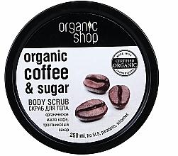 """Voňavky, Parfémy, kozmetika Telový peeling """"Brazílska káva"""" - Organic Shop Body Scrub Organic Coffee & Sugar"""