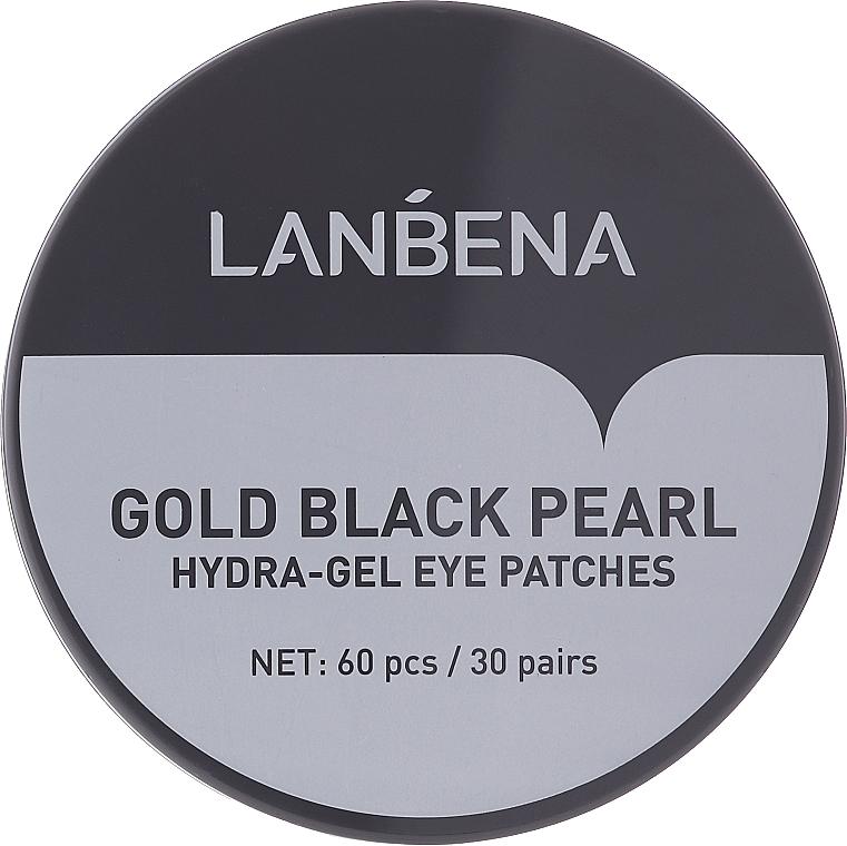 Hydrogélové náplasti na oči so zlatom a čiernymi perlami - Lanbena Gold Black Pearl Hydra-Gel Eye Patch