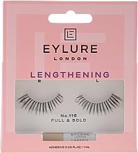 Voňavky, Parfémy, kozmetika Sada falošné riasy №116 s lepidlom - Eylure Lengthening False Eyelashes No.116