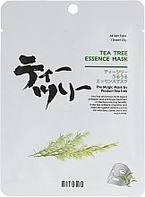 Voňavky, Parfémy, kozmetika Textilná maska na tvár s olejom z čajovníka - Mitomo Tea Tree Essence Mask
