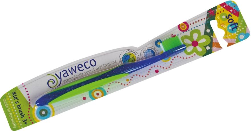 Detská zubná kefka mäkká, modrá - Yaweco Kids Toothbrush Soft — Obrázky N1