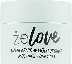 Voňavky, Parfémy, kozmetika Hydratačný gél na tvár, krk a dekolt - FlosLek ZeLove Moisturizing Aloe Water Bomb 2in1