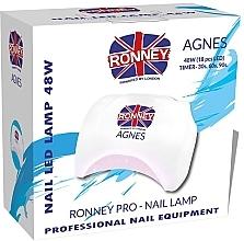 Voňavky, Parfémy, kozmetika LED lampa na nechty, biela - Ronney Profesional Agnes Pro LED 48W (GY-LED-032)