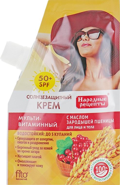 Opaľovací krém s olejom z pšeničných klíčkov SPF50 - Fito Kozmetické Ľudové Recepty