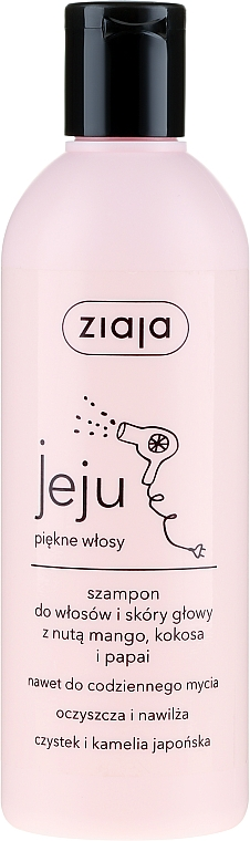 Šampón na vlasy s mangom, kokosom a papájou - Ziaja Jeju