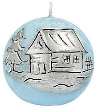 Voňavky, Parfémy, kozmetika Dekoratívna sviečka, vianočná Modrá guľa, 10 cm - Artman Christmas Frozen Blue