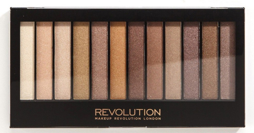 Paleta tieňov na viečka, 12 odtieňov - Makeup Revolution Redemption Palette Essential Shimmers — Obrázky N1