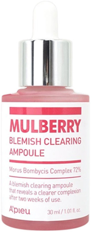 Esencia v ampulke - A'pieu Mulberry Blemish Clearing Ampoule — Obrázky N1
