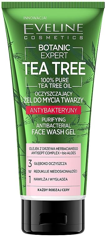 Gél na tvár - Eveline Cosmetics Botanic Expert Tea Tree Face Wash Gel