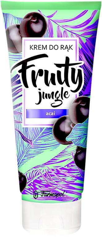 """Krém na ruky """"Acai"""" - Farmapol Fruity Jungle Hand Cream — Obrázky N1"""
