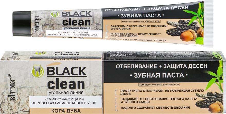 """Zubná pasta """"Bielenie + ochrana ďasien"""" - Vitex Black Clean"""