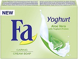 "Voňavky, Parfémy, kozmetika Krémové mydlo ""Jogurt"" s aloe vera - Fa Yoghurt Aloe Vera Cream Soap"