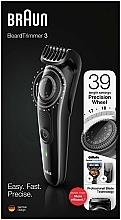Voňavky, Parfémy, kozmetika Zastrihávač brady a fuzov, čierny - Braun BeardTrimmer3 BT3242