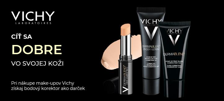 Získaj bodový korektor Dermablend ako darček pri nákupe make-upov Vichy