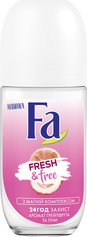 "Guľôčkový dezodorant ""Grapefruit-liči"" - FA Fresh & Free Grapefruit & Lychee"