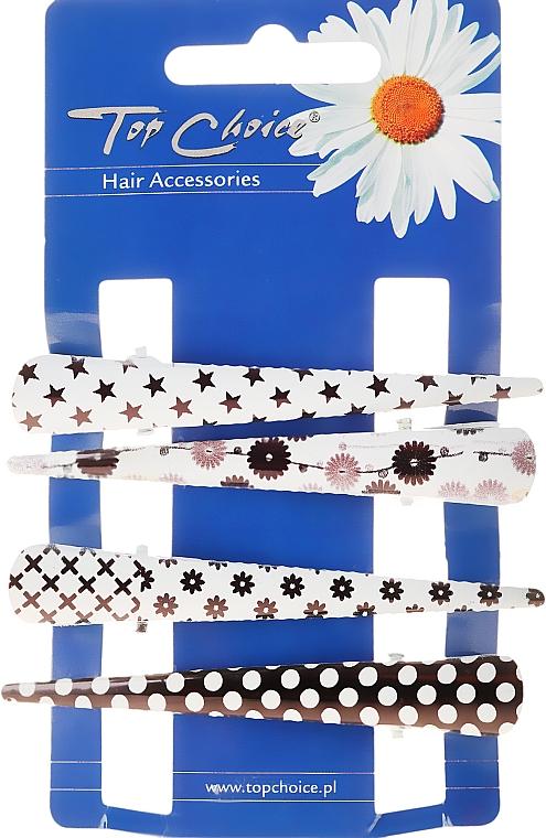 Sponky do vlasov, 25099, čierno-biele - Top Choice