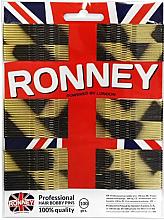 Voňavky, Parfémy, kozmetika Sponky do vlasov, zlato-čierné 60 mm, 100ks. - Ronney Golden-Black Hair Bobby Pins