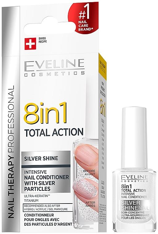 Prostriedok na obnovenie nechtov 8v1 - Eveline Cosmetics 8in1 Silver Shine Nail Therapy
