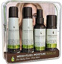 Voňavky, Parfémy, kozmetika Sada - Macadamia Professional Natural Oil Weightless Moisture Travel Kit (shm/100ml + cond/100ml + cond/100ml + oil/50ml)
