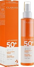 Voňavky, Parfémy, kozmetika Opaľovacie mlieko-sprej na telo - Clarins Lait-en-Spray Solaire Corps 50+