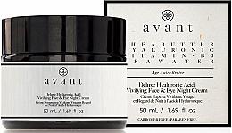 Voňavky, Parfémy, kozmetika Nočný krém s kyselinou hyalurónovou - Avant Skincare Deluxe Hyaluronic Acid Night Cream